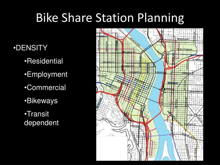 Bike Share Station Planning