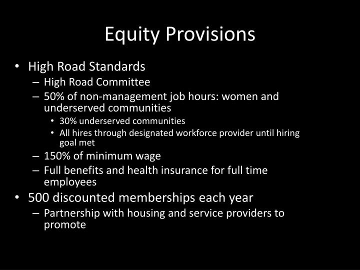 Equity Provisions