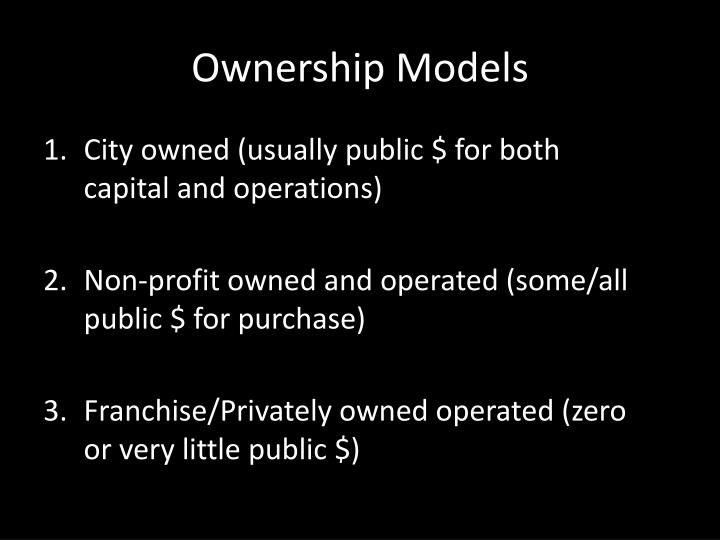 Ownership Models