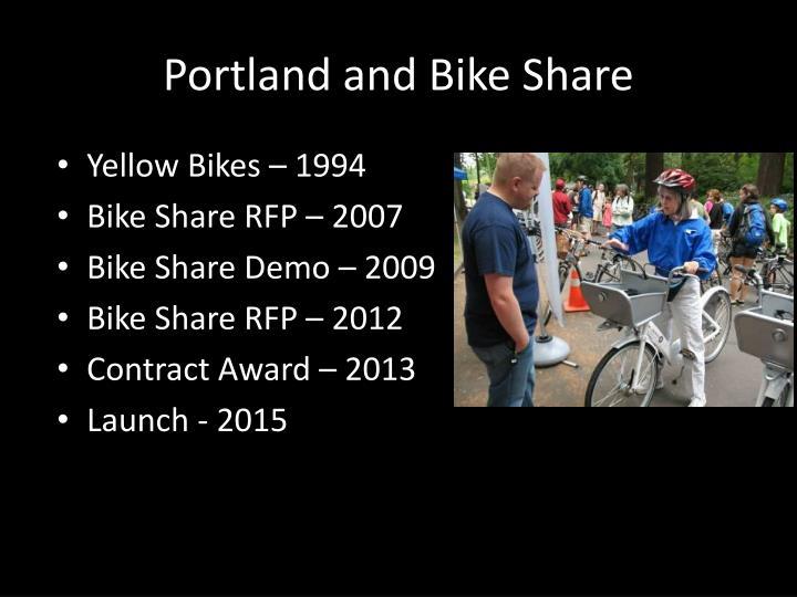 Portland and Bike Share