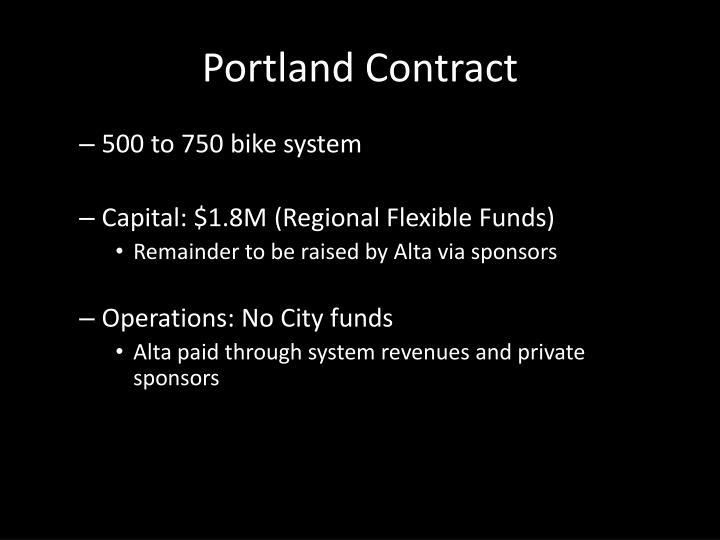 Portland Contract