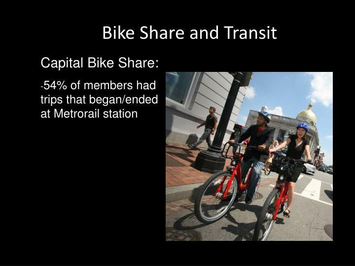 Bike Share and Transit