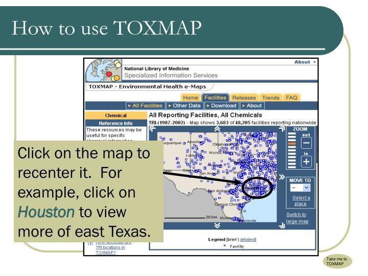 Take me to TOXMAP
