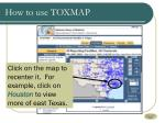 how to use toxmap