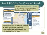 search hsdb after chemical search