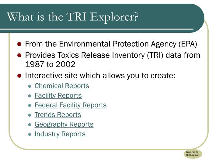 Take me to TRI Explorer