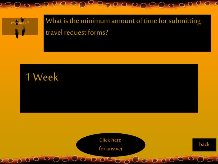 What is the minimum amount of time for submitting travel request forms?
