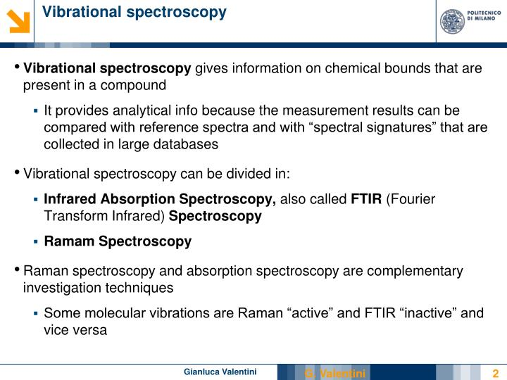 Vibrational spectroscopy