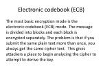 electronic codebook ecb