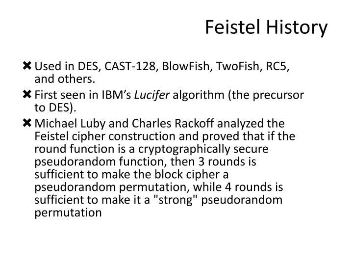 Feistel History