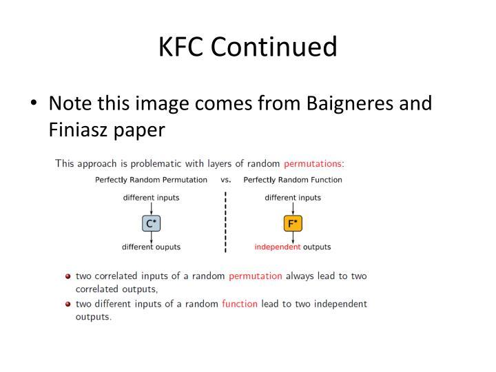 KFC Continued