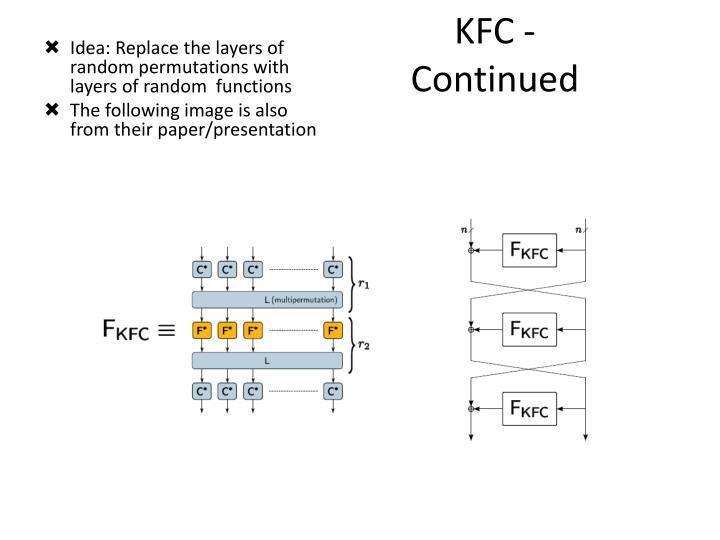 KFC - Continued