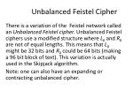 unbalanced feistel cipher