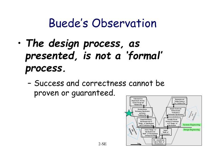 Buede's Observation