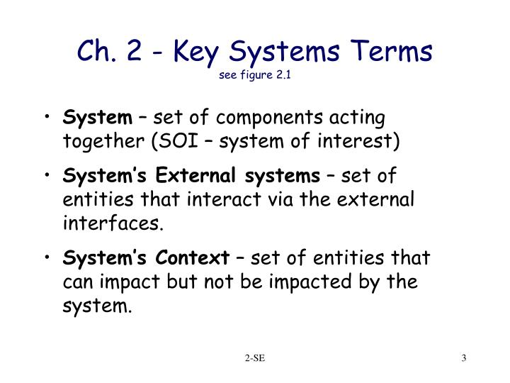 Ch 2 key systems terms see figure 2 1
