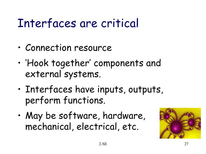Interfaces are critical