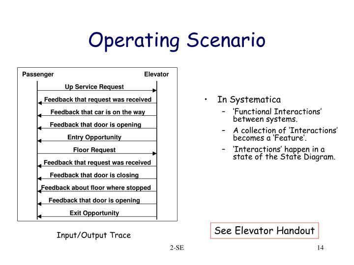 Operating Scenario