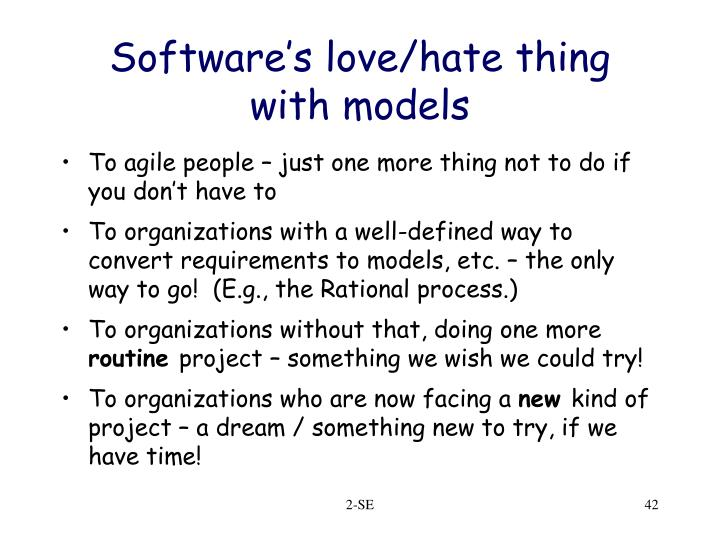 Software's love/hate thing