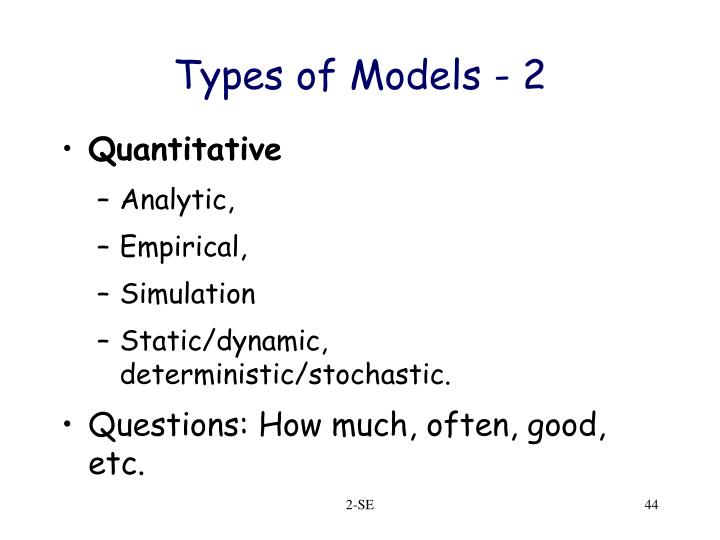 Types of Models - 2