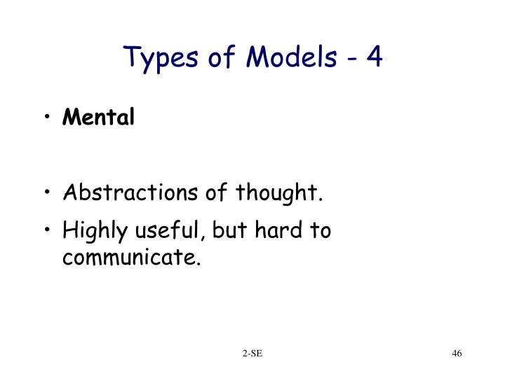 Types of Models - 4