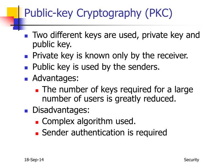 Public-key Cryptography (PKC)