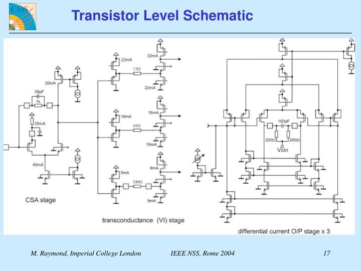 Transistor Level Schematic