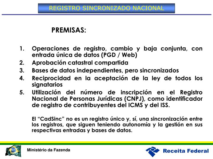REGISTRO SINCRONIZADO NACIONAL