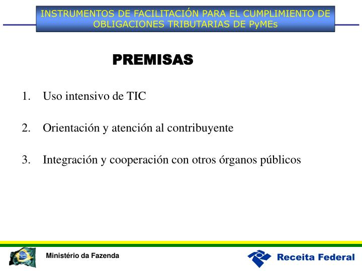 INSTRUMENTOS DE FACILITACIÓN PARA EL CUMPLIMIENTO DE OBLIGACIONES TRIBUTARIAS DE PyMEs