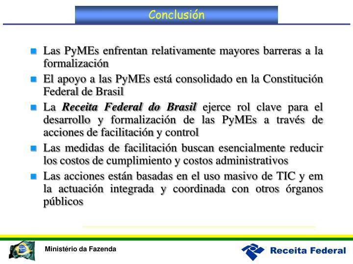 Las PyMEs enfrentan relativamente mayores barreras a la formalización