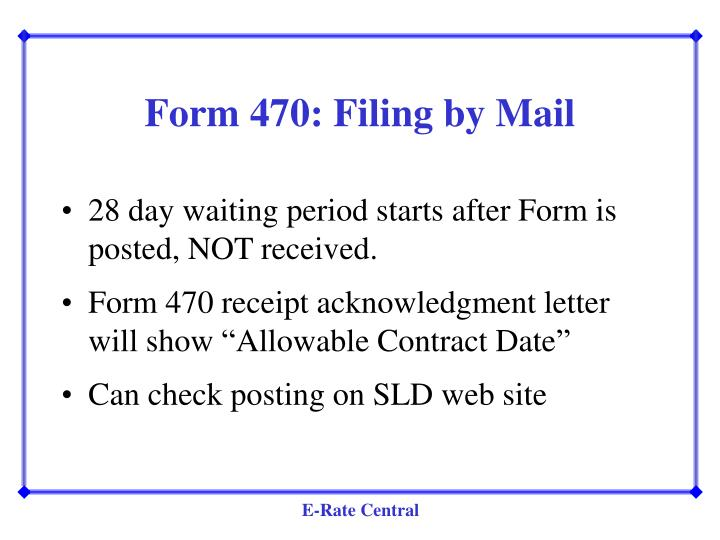 Form 470: Filing by Mail
