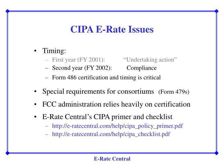 CIPA E-Rate Issues
