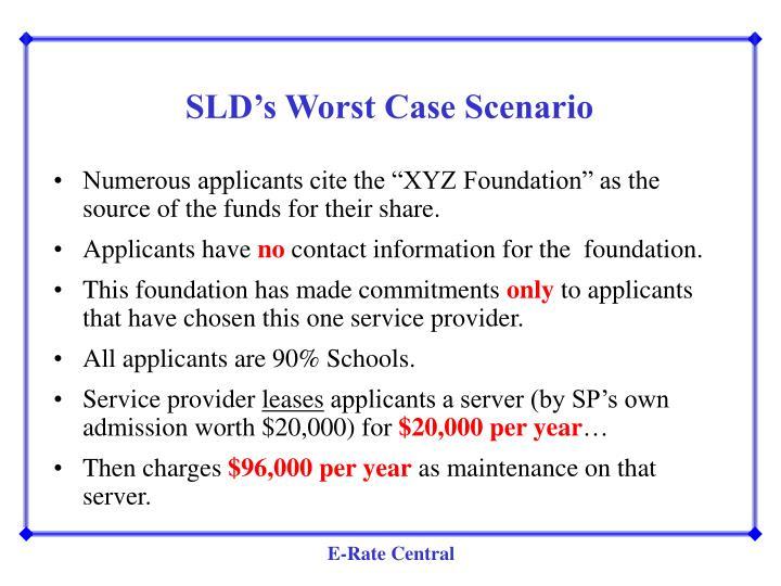 SLD's Worst Case Scenario