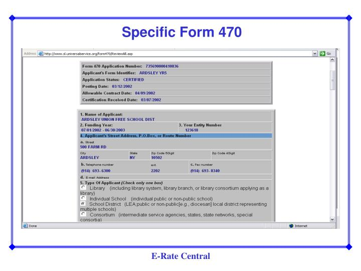 Specific Form 470