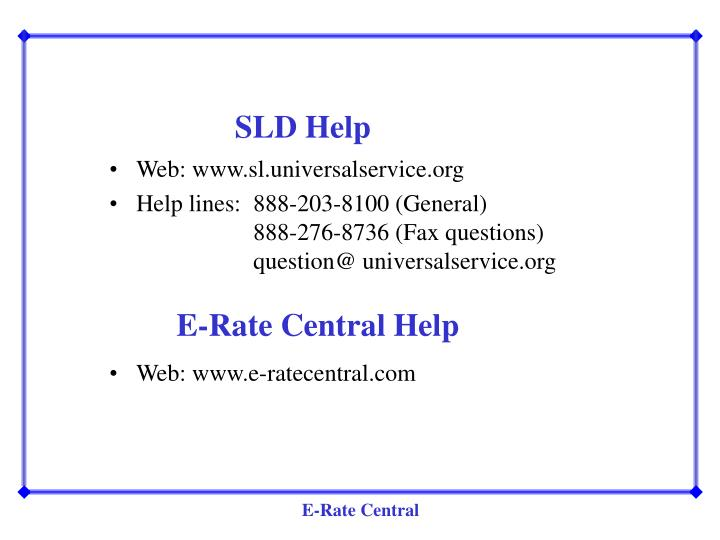 SLD Help
