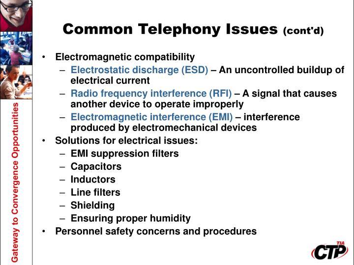Common Telephony Issues