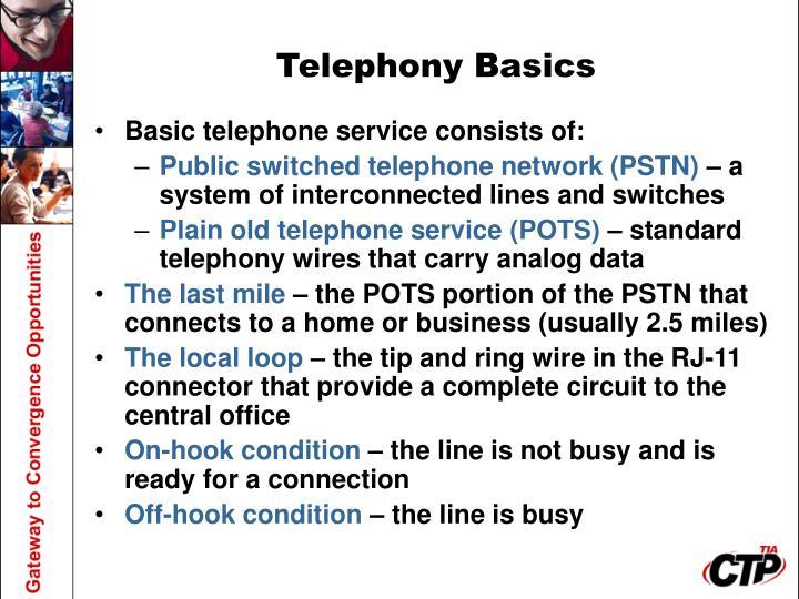 Telephony Basics