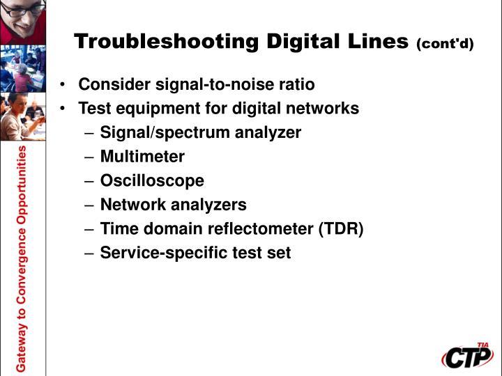 Troubleshooting Digital Lines