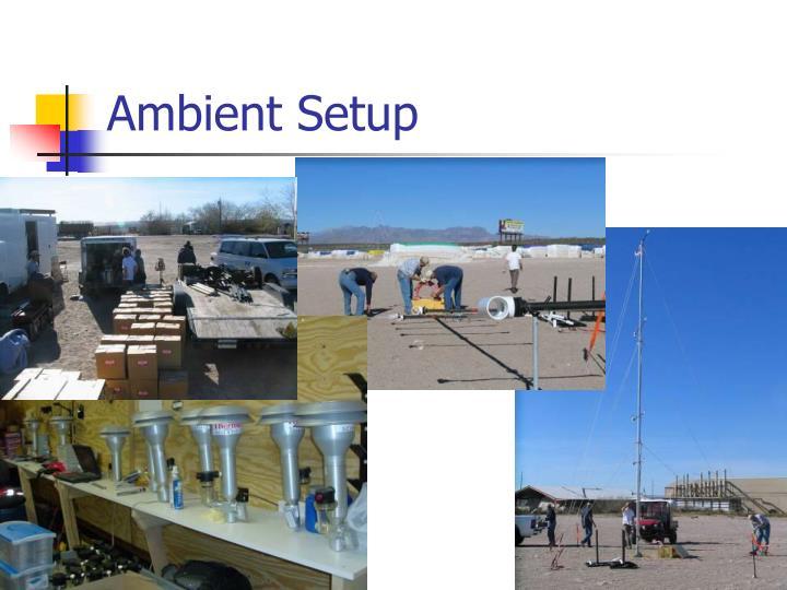Ambient Setup