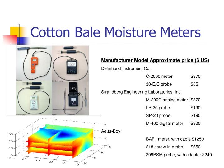 Cotton Bale Moisture Meters