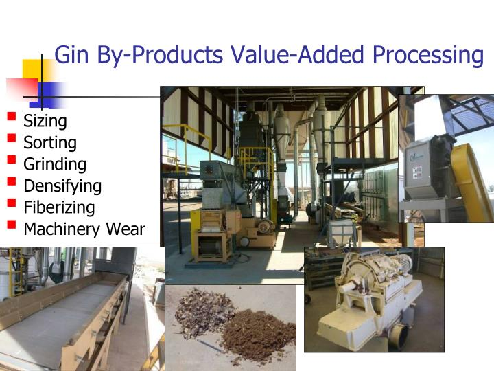 Gin By-Products Value-Added Processing