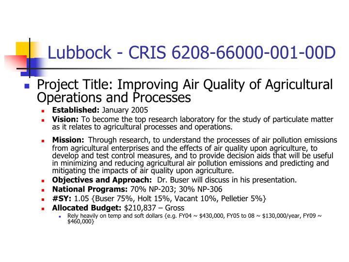 Lubbock - CRIS 6208-66000-001-00D