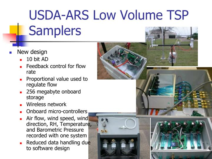 USDA-ARS Low Volume TSP Samplers