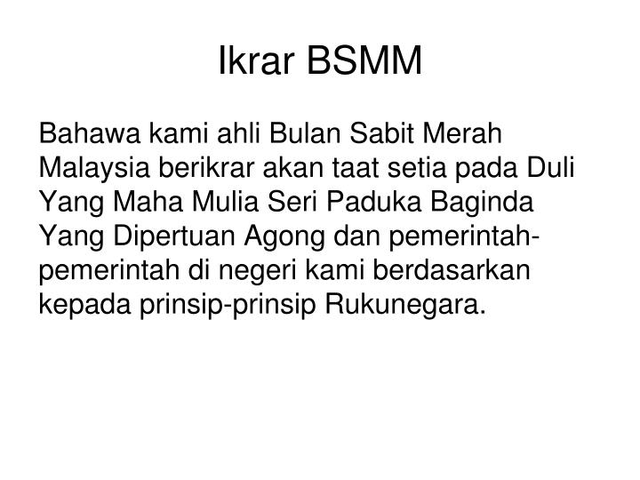 Ikrar BSMM