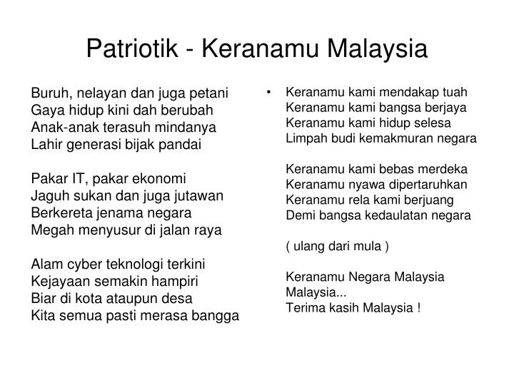 Patriotik - Keranamu Malaysia