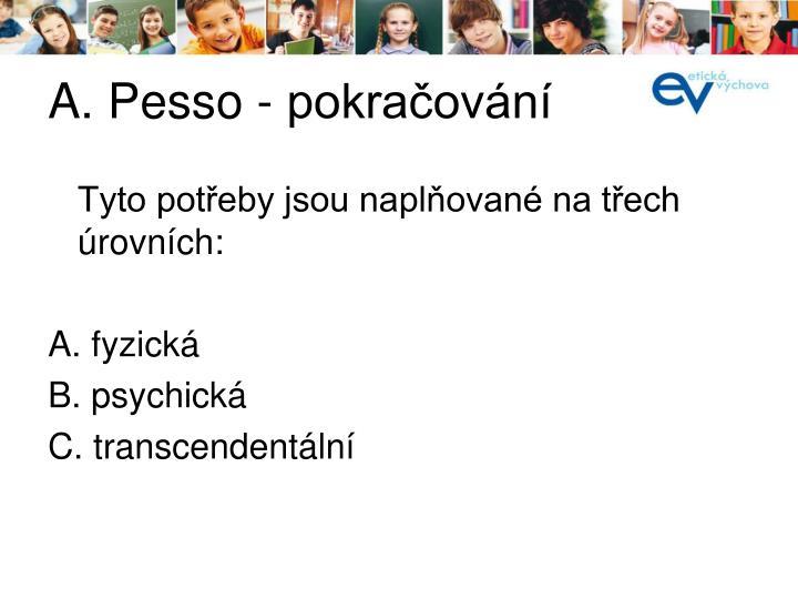 A. Pesso - pokračování