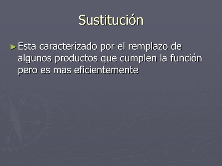 Sustitución