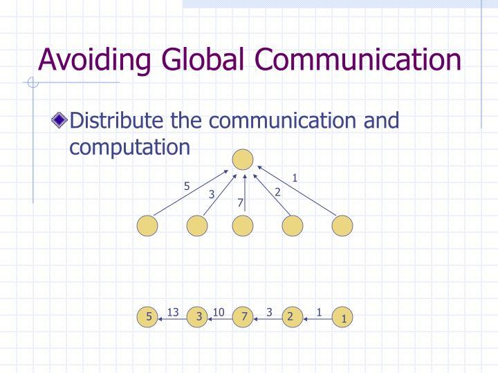 Avoiding Global Communication