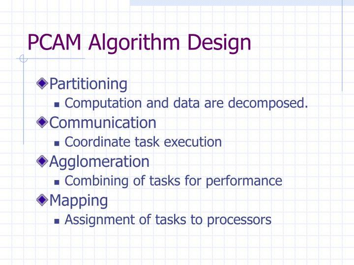 PCAM Algorithm Design