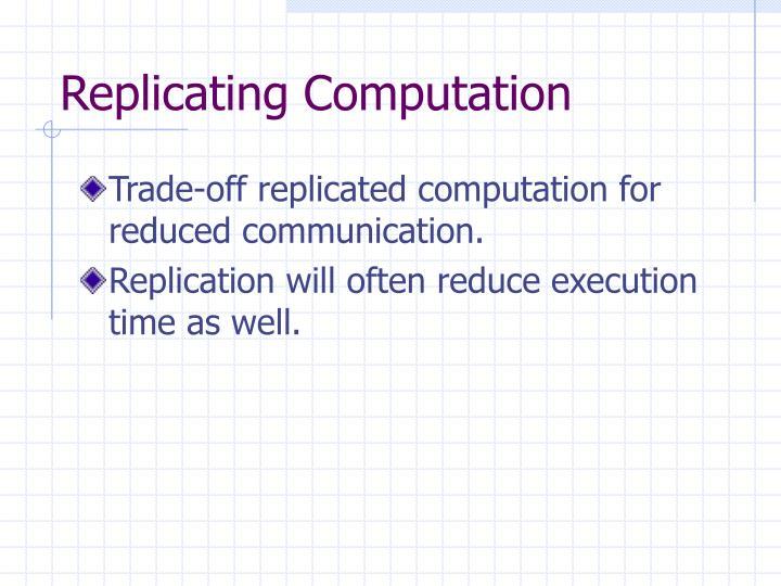 Replicating Computation