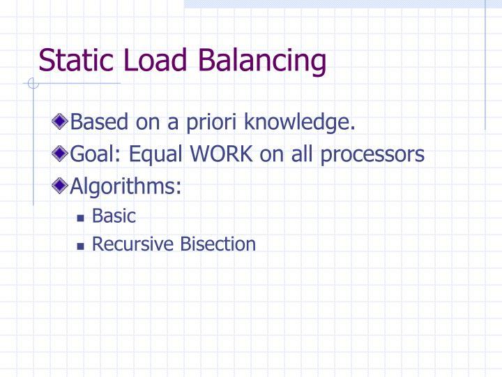 Static Load Balancing